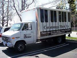 Cucamonga Music Co truck in front of store