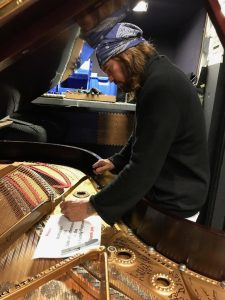 Billy Ray Cyrus Autographing a Piano